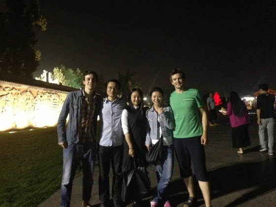 Our wonderful hosts in Xi'an:  Ellie, Mandy and Anthony.