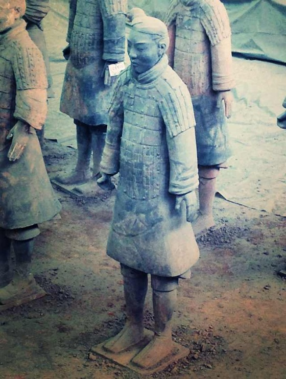 Only the tallest men of the time were recruited in the emperor's army, which explains why the terracotta warriors are all rather tall, even compared to modern Chinese standards!
