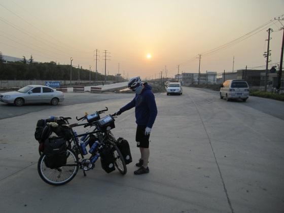Sun down near Suzhou