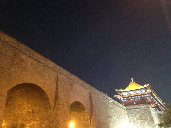 Xi'an's city wall. The longest Xi'an city wall in the world