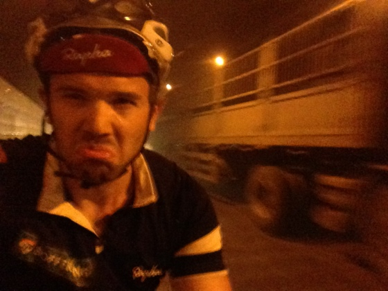 Cycling behind Matthieu in a badly ventilated tunnel after a lunch of Mutton soup almost proved too much