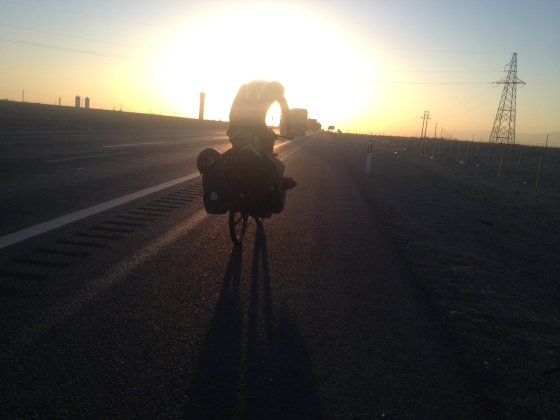 Matt sunset ride desert