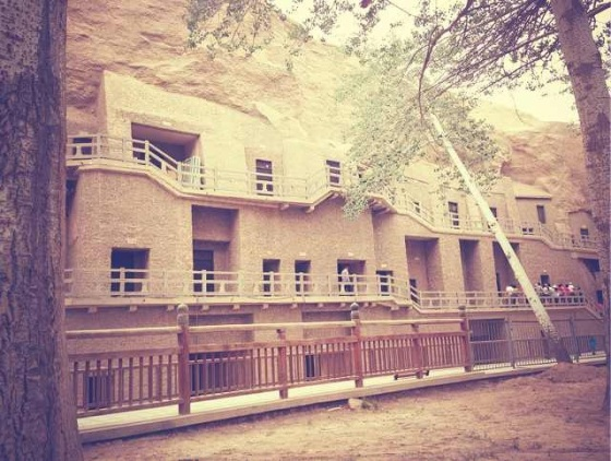 """All the caves have been locked under key since the authorities heard that 2 foreigners were coming to Mogao to """"take a look"""" at the caves."""