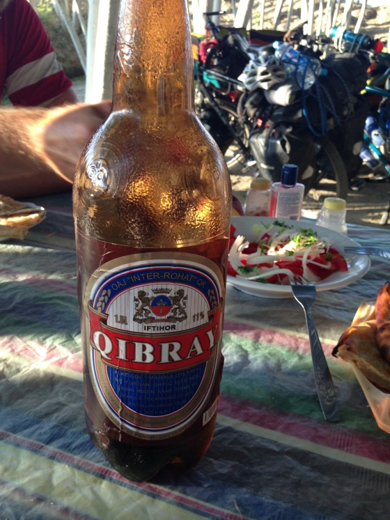 We don't know if it is because it was bought in a plastic bottle, served to us in a bowl or because it did not taste of beer but Qibray beer is simply wrong. Somewhere in Uzbekistan.