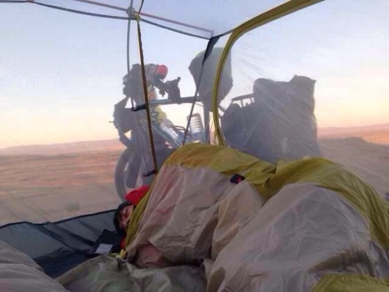 Why put the roof on the tent when it makes for a perfect blanket?