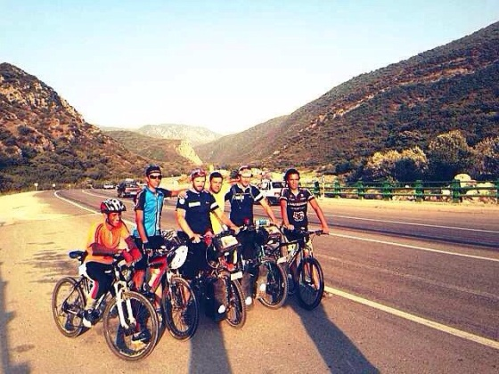 With a Tehran cycling club in Golistan National Park