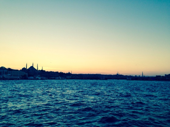 There is something grand about entering a city by boat (even when you are meant to be on a bike)