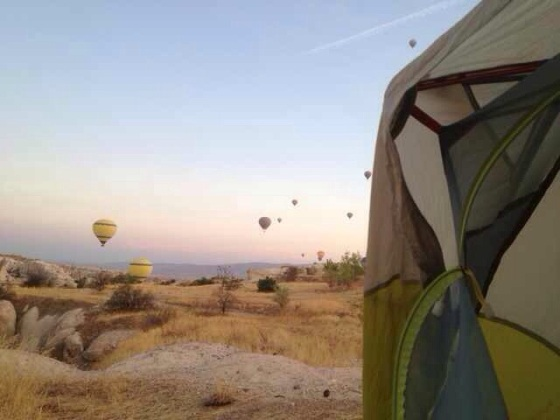 Probably the best camp site in the world (if those ruddy balloons weren't so noisy!()