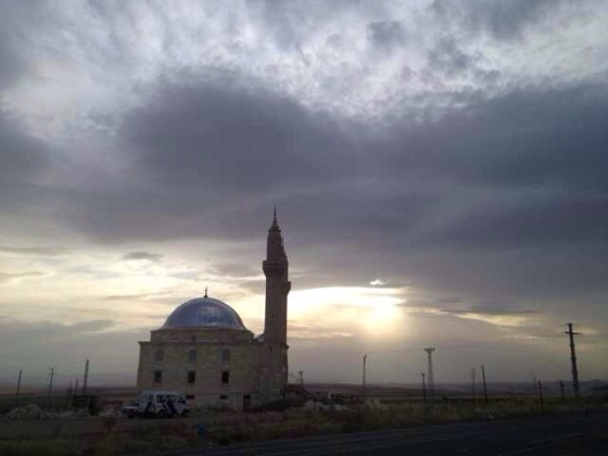 Turkey mosque at sunset