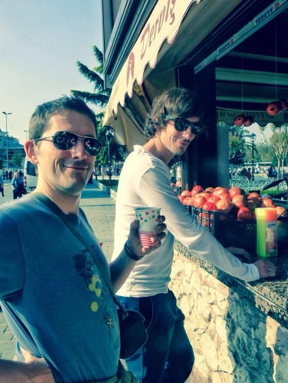 Brotherhood of overpriced pomegranate juice