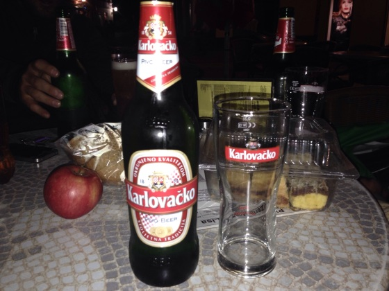 Whilst not the best beer in the world, Karlovacko certainly did taste special. In Karlovac, Croatia.