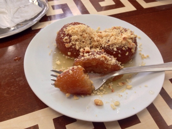 The key to a good Turkish pastry is to put the right amount of almond, hazelnut, honey, sugar, syrup and dough. And sugar. And syrup. In Edirne, Turkey.