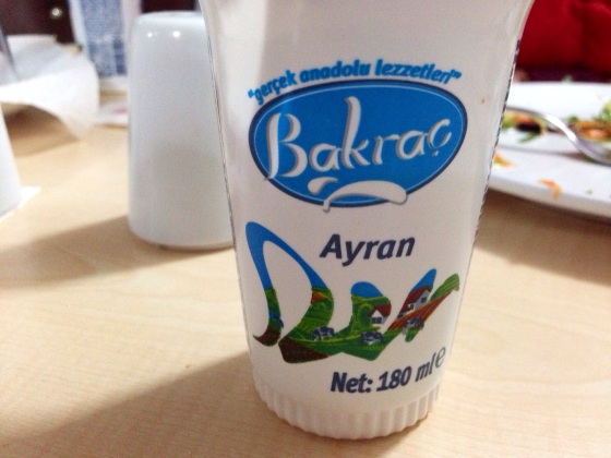 Ayran, our favourite non-hoppy drink of the expedition. Near Erzincan, Turkey.
