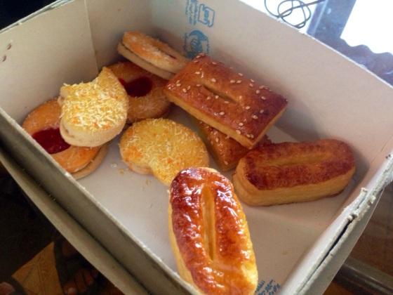 Assortment of Iranian pastries. Near Bandar Anzali, Iran.
