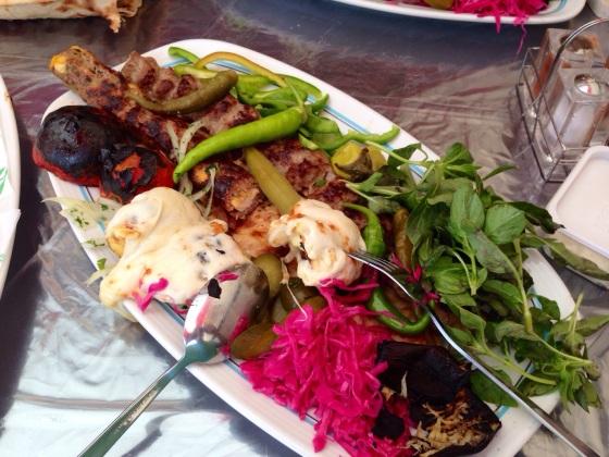 "And the ""best kebab of the trip"" award goes to... The Taj-Mahal restaurant, in Mashhad, Iran"