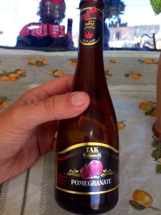 "Pomegranate ""malted beverage"". In Shirvan, Iran."