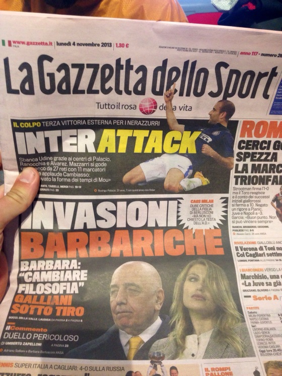 Dozens of newspapers, radio and TV shows talking about just football. One of the greatest places on earth, indeed.