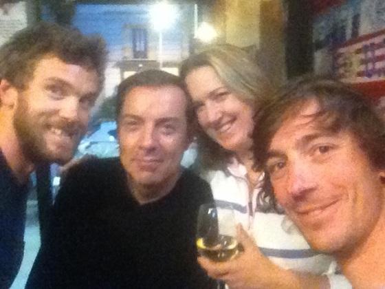 Alex, Simon, Matthieu and Captain Haddock.