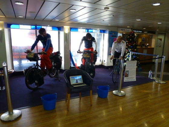 We're still waiting from the Guinness Book of Records to see if we officially cycled the quickest across the Channel